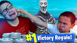 9 YEAR OLD KID GETS BOOTED OFFLINE ABOUT TO WIN A SOLO FORTNITE GAME PRANK! *HE RAGED!* (GONE WRONG)