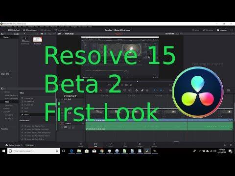 Davinci Resolve 15 Beta 2   First Look