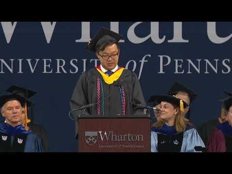 Kenneth Ye, Student Speaker | Wharton Undergraduate Graduation 2018