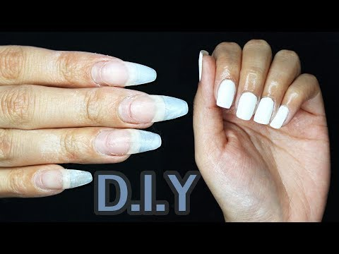 DIY: Soaking of Acrylic Nails to White Gel | Lilybetzabe