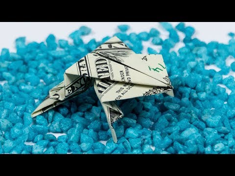 DOLLAR ORIGAMI FROG folding instructions: How to fold a frog out of money