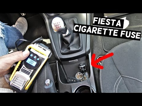 FORD FIESTA CIGARETTE LIGHTER FUSE LOCATION REPLACEMENT MK7 ST