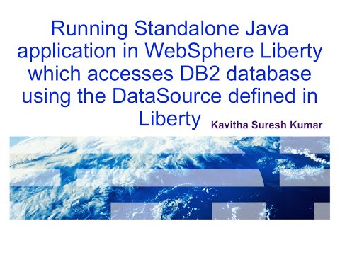 Running standalone java application which access database defined in WebSphere Liberty