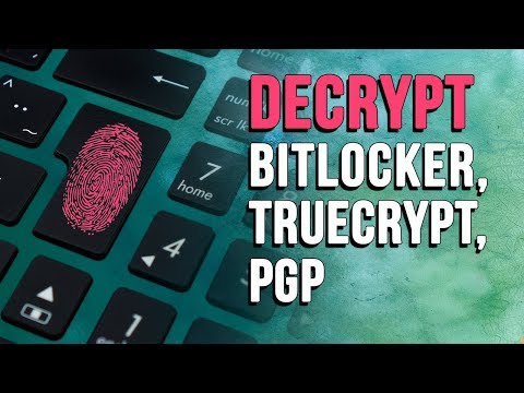 Forensic Disk Decryptor for Encrypted BitLocker, TrueCrypt, PGP Volumes