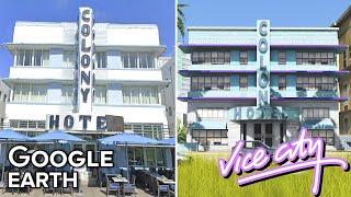 Vice City vs Miami | Google Earth and GTA 5 Map Comparison