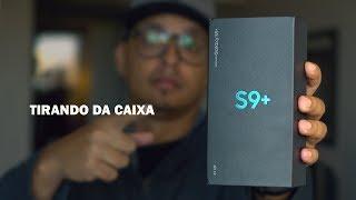 PEGUEI O SAMSUNG GALAXY S9 PLUS - Unboxing.