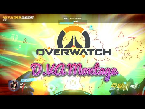 Overwatch - D.VA Montage (Game Highlights)