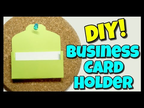 How To Make A Business Card Holder | I Am Kristin📍