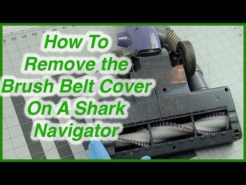 How to Open Brush Roll Bottom Plate on A Shark Navigator Lift Away