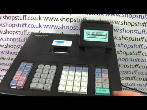 Sharp XE-A207 Cash Register Instructions: How To Clear Down The Readings