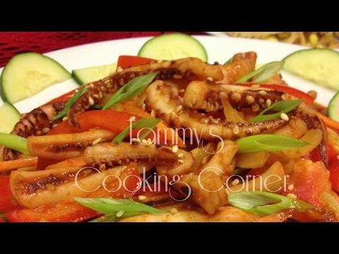 Mực Xào Kiểu Hàn - Spicy Korean Squid (Ojingeobokkeum 오징어볶음)