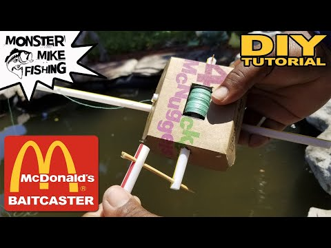 McDonald's DIY Baitcaster Fishing Rod | Monster Mike