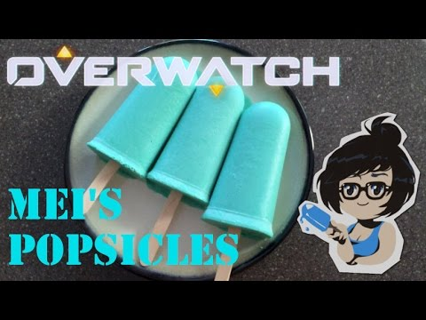 Mei's Blue Popsicles from Overwatch! (Orange and Blueberry Creamsicles)