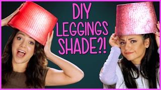 DIY Leggings Lamp Shades?! | Niki and Gabi DIY or DI-Don