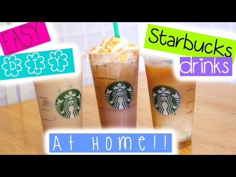 EASY DIY Starbucks drinks at HOME!