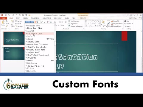 Download / Install Custom Font for PowerPoint Presentations