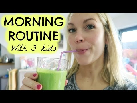MORNING ROUTINE WITH 3 KIDS