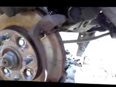 How to: Replace front brake pads. 1992 Honda Accord