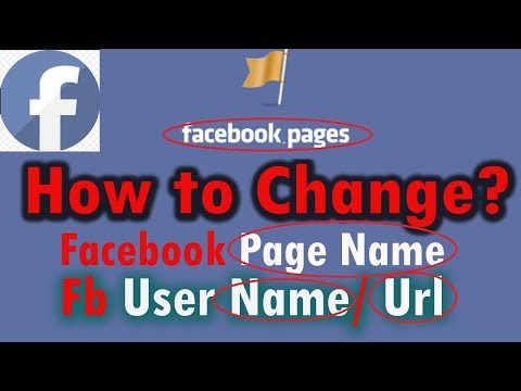 How to change facebook page name, user name & category 2017, facebook fan page name change bangla