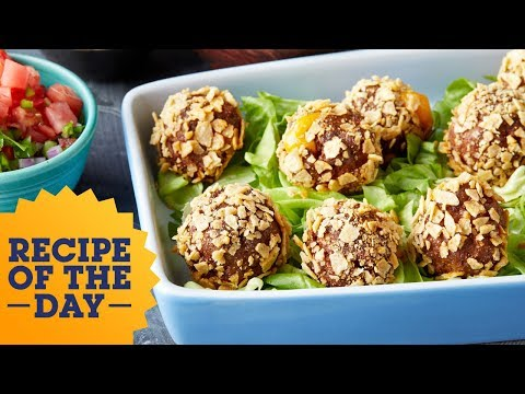 Recipe of the Day: Cheesy Stuffed Taco Meatballs | Food Network
