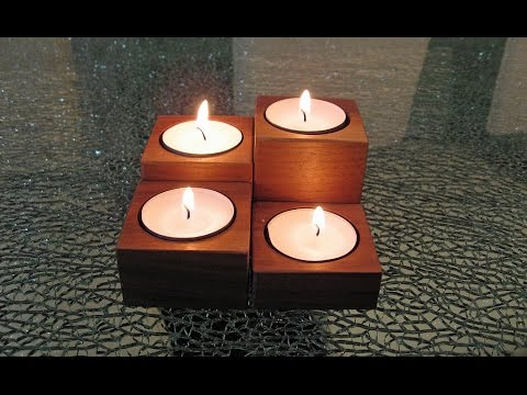 Easy to make Candle Holder Set - Woodworking