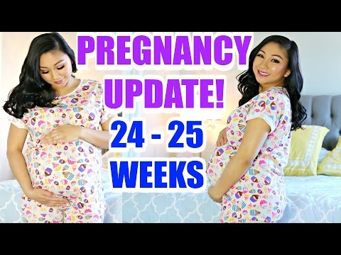 24-26 WEEK PREGNANCY UPDATE! | Fears, Bloody Noses, Mood Swings, Pain, Baby Kicks| Mommy Monday