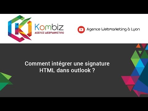 Comment intégrer une signature HTML dans outlook ?