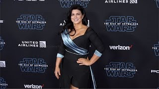 "Gina Carano ""Star Wars: The Rise of Skywalker"" World Premiere Blue Carpet"