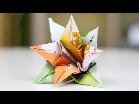 Geldgeschenk Hochzeit Blumen Falten Playithub Largest Videos Hub