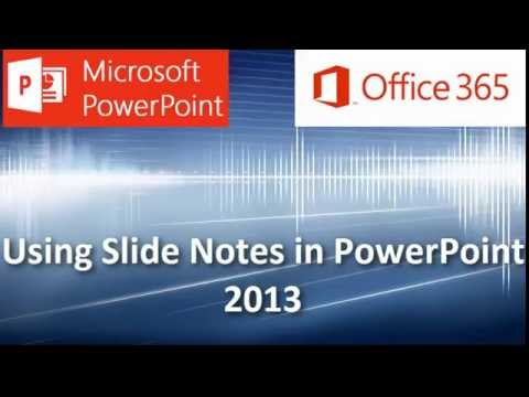PowerPoint Speaker Notes: Inserting and Using Slide Notes