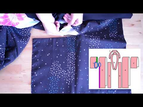 Japanese Kimono and Obi Sewing Details  Part 1