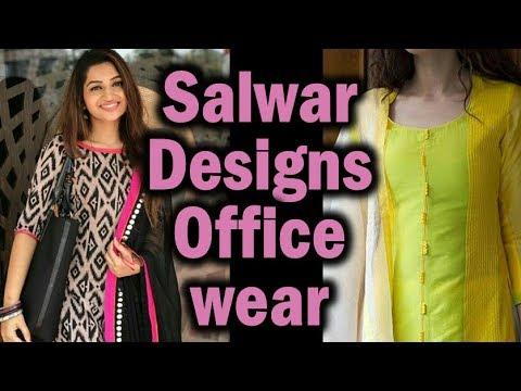 Best Office Wear Salwar, Kurti Designs   Formal Churidhar for Interview