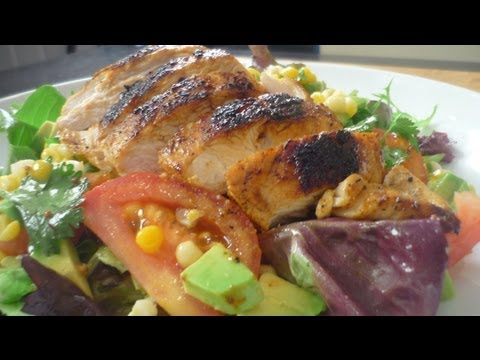 Southwesterm Chicken Salad with a Lime Balsamic Vinaigrette