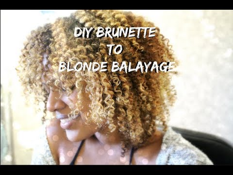 How To Safely Dye BLACK Natural Hair/Curly Hair To BLONDE At Home With No Damage
