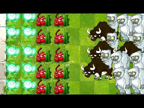 Plants vs Zombies 2 Yeti Feastivus Gameplay 10 x Yeti it's Going Down Great PVZ 2 Game