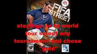 How To Unlock Everything On Fifa Street (not cheats but is just as easy)