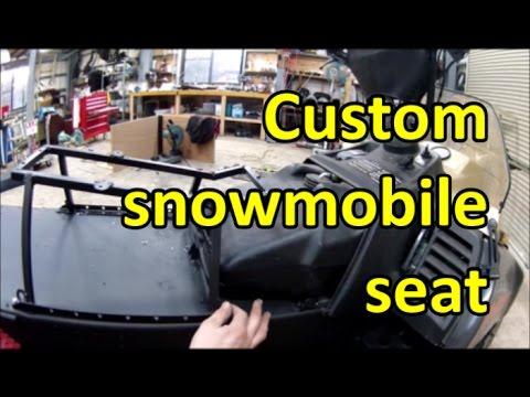 Fabricating custom snowmobile seat