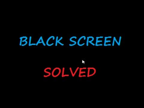 Black screen of ☠ DEATH ☠ Windows 7 & 8 - with cursor at start-up SOLVED