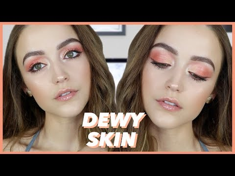 Chatty Get Ready | The Easiest Peachy Eye Look Ever + Fresh Dewy Skin
