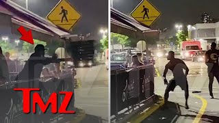 50 Cent Throws Table \u0026 Chairs During Fight In New Jersey | TMZ