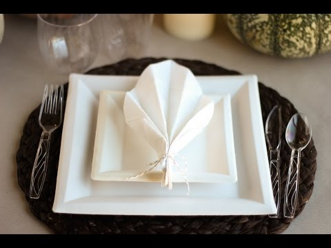 Leaf Napkin Fold by Confetti Sunshine