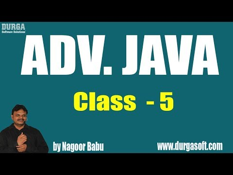 Learn ADV. JAVA Programming Tutorial Online Training by Mr. Nagoor Babu Sir On 13-06-2018