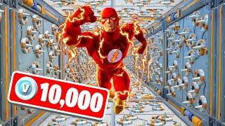Finish This FLASH DEATHRUN To WIN 10,000 V-BUCKS! (Fortnite)