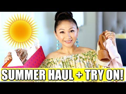 SUMMER HAUL + TRY ON! | Target, Honey Bum, Tory Burch, LeTote, Macy's, Trunk Club
