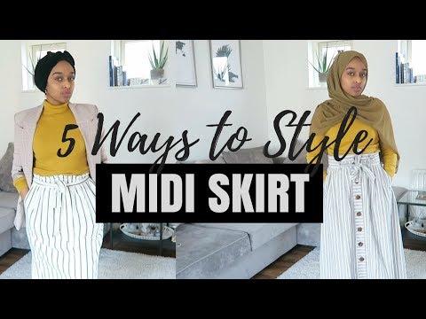 Styling A Midi Skirt - 5 WAYS | MODEST PICKS EP.4