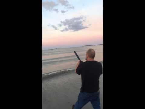 1/2 mile potato cannon bait launcher?