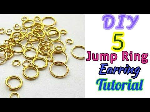 DIY 5 Easy Jump Ring Earrings Tutorial How to make earrings in just 1 minute