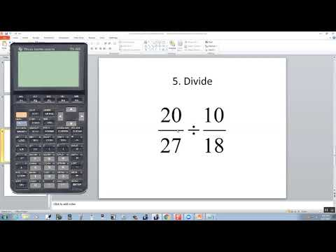 Technology in College Algebra - Fractions - TI-85
