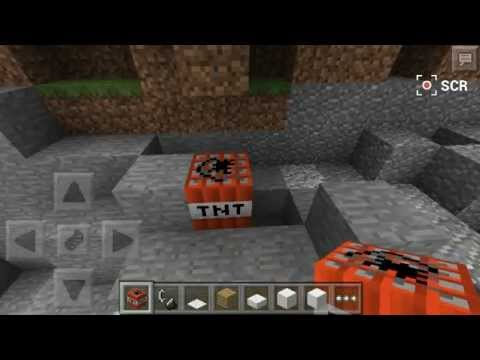 Minecraft Pocket - How to use TNT on Creative Mode 0.9.0 (NO MOD)