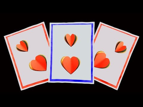 How to Make Valentine Love Heart Card (very easy)